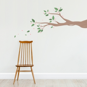 Four Season Berry Branch Wall Decal