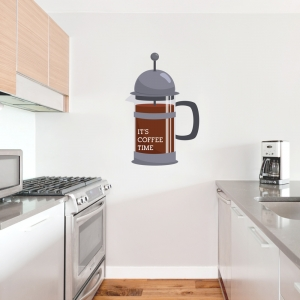 French Press Printed Wall Decal