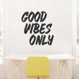 Good Vibes Only Wall Quote Decal