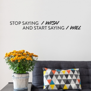 I Will Wall Quote Decal
