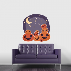 Jack O Lanterns Printed Wall Decal