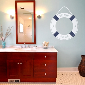 Life Ring Welcome Wall Decal