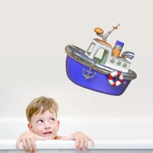 3D Tug Boat Printed Wall Decal