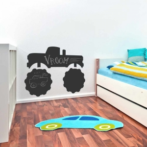 Black Monster Truck Chalkboard Wall Decal