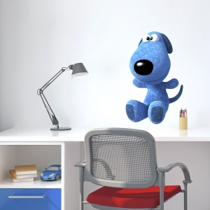 3D Plush Dog Printed Wall Decal
