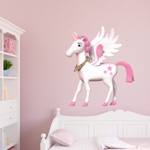 3D Magical Unicorn Printed Wall Decal