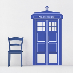 Police Call Box Wall Decal