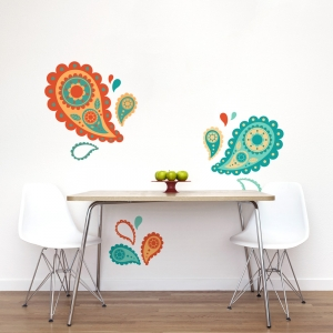 Paisley Printed Wall Decal