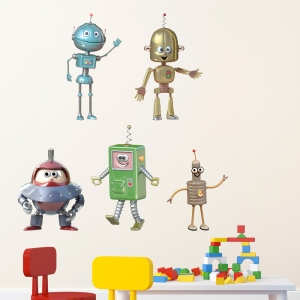 3D Robot Kit Wall Decal