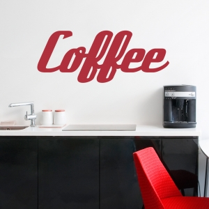 Retro Coffee Wall Decal