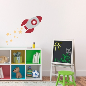 Rocketship Wall Decal
