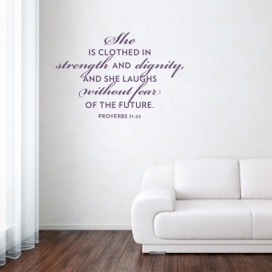She Without Fear Wall Art Decal
