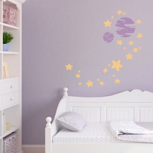 Stars Planet Wall Decal