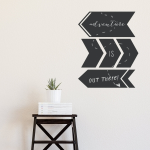 Thick Arrow Chalkboard Wall Decal