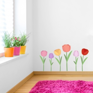 Tulps Print Wall Decal