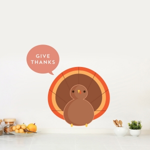 Turkey Printed Wall Decal
