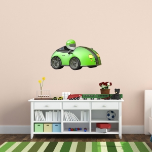 3D Race Car Wall Decal