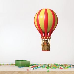 3D Teddy Bear Balloon Wall Decal