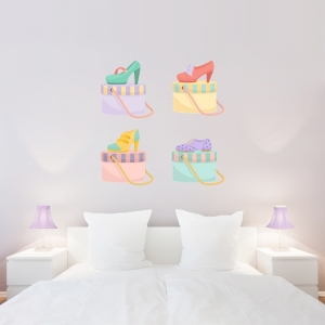 Vintage Shoes Wall Decal