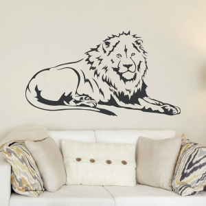 African Lion Wall Decal