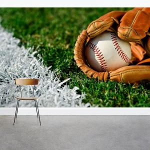 Baseball in a Glove Wall Mural