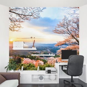 Sunrise on Mount Yoshino Wall Mural