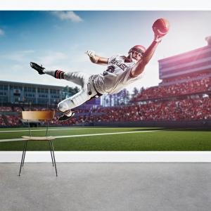 American Footballer Wall Mural