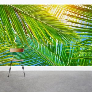 Under the Palm Fronds Wall Mural