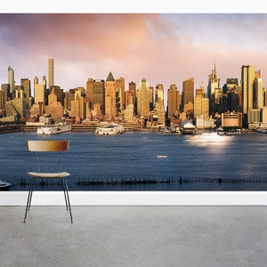 New York Bay Wall Mural