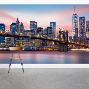 Manhattan in Twighlight Wall Mural