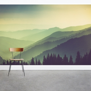 Greenest Mountains Wall Mural