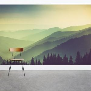 Greenest Mountains Wall Mural