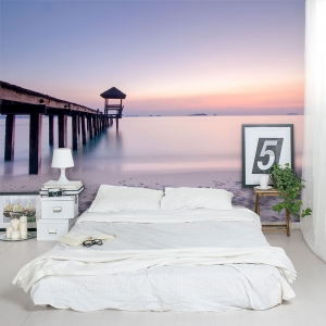 Pavilion by the Sea Wall Mural