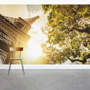 The Tower in Autumn Wall Mural