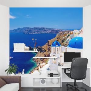 Santorini Escape Wall Mural
