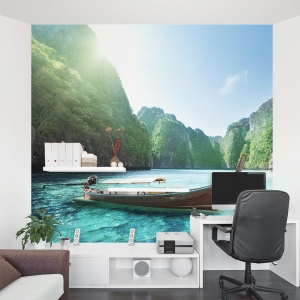 Fishing Oasis Wall Mural