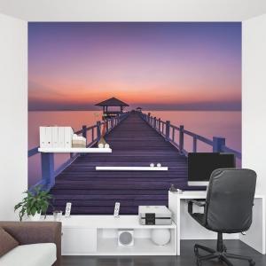 Bridge to Sunset Wall Mural