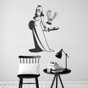 Goddess Athena Wall Decal
