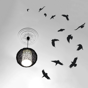 Circling Crows Wall Decal