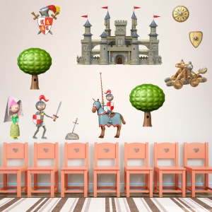 3D Medieval Knight Kit Wall Decal