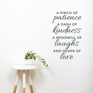 Pinch of Patience Wall Decal