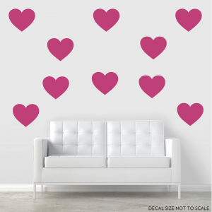 Giant Hearts Wall Decal