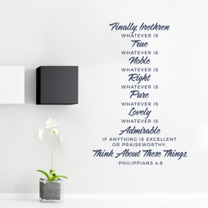 Think About These Things Wall Decal - Philippians 4:8