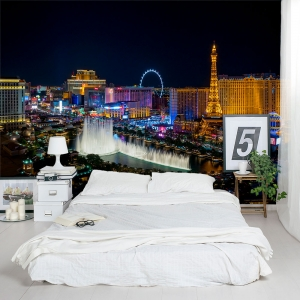 Las Vegas Strip at Night Wall Mural