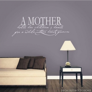 A mother wall decal quote
