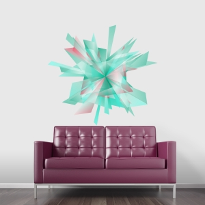 Abstract Explosion Printed Wall Decal