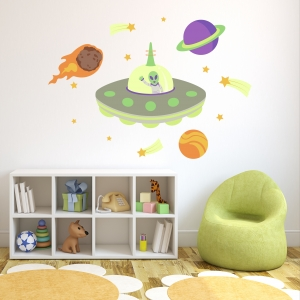 Alien Contact Wall Decal