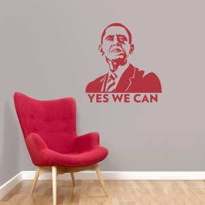 Barack Obama wall decal