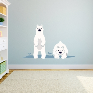 Cartoon Polar Bear Printed Wall Decal