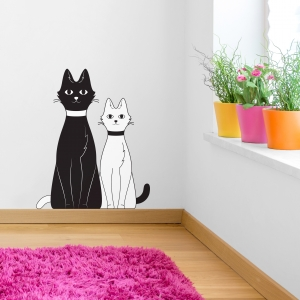 Cat Pair Wall Decal